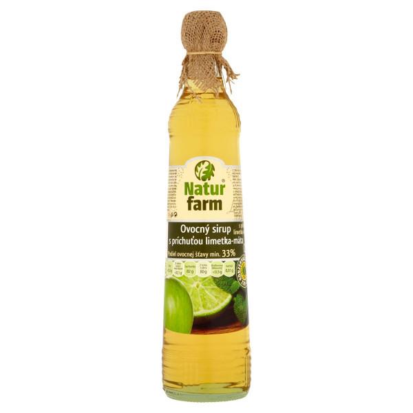 Sirup mätovo-limetový Natur Farm 700 ml 1
