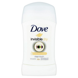 Dove Invisible Dry Tuhý antiperspirant 40 ml 2