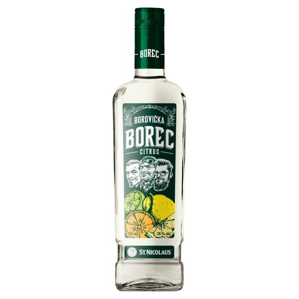 BOREC Borovička Citrus 38% 0,7 l 1