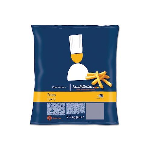 LW Domáce hranolky 13x13 so šupkou  mrazené 2,5kg 1