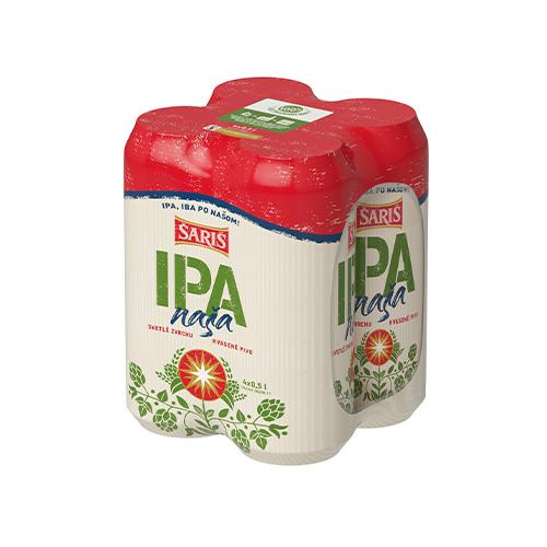 Pivo ŠARIŠ IPA 0,5l plech 4ks balenie 1