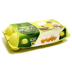 Vajcia z voľného výbehu kal. M/L 10ks/kartón 1