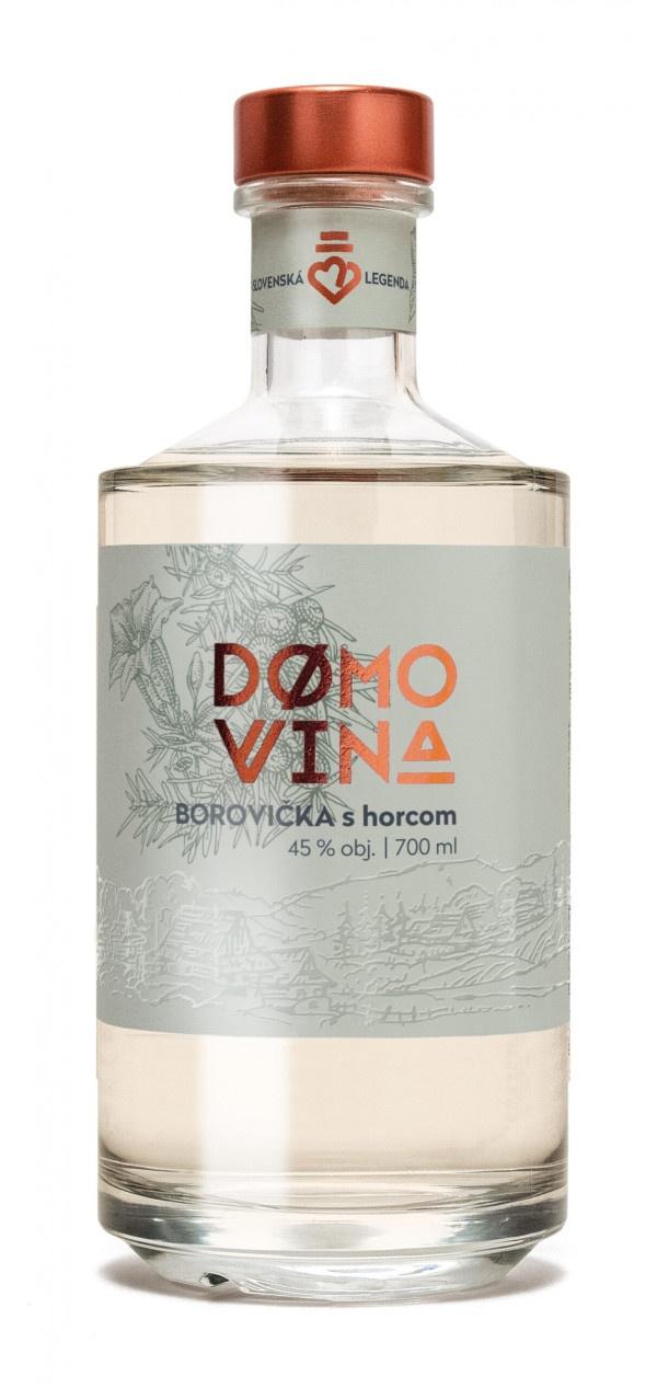DOMOVINA Borovička s horcom 45% 0,7 l 1