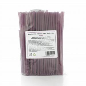 Slamky z ryže 500g cca 100 ks fialové (kap.červ.) 2