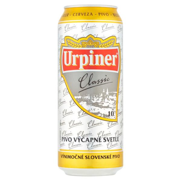 Pivo Urpiner Classic 10° výčapné svetlé 0,5l plech 1
