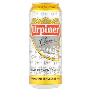 Pivo Urpiner Classic 10° výčapné svetlé 0,5l plech 6