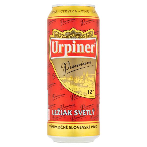 Pivo Urpiner Premium 12° ležiak svetlý 0,5l plech 1
