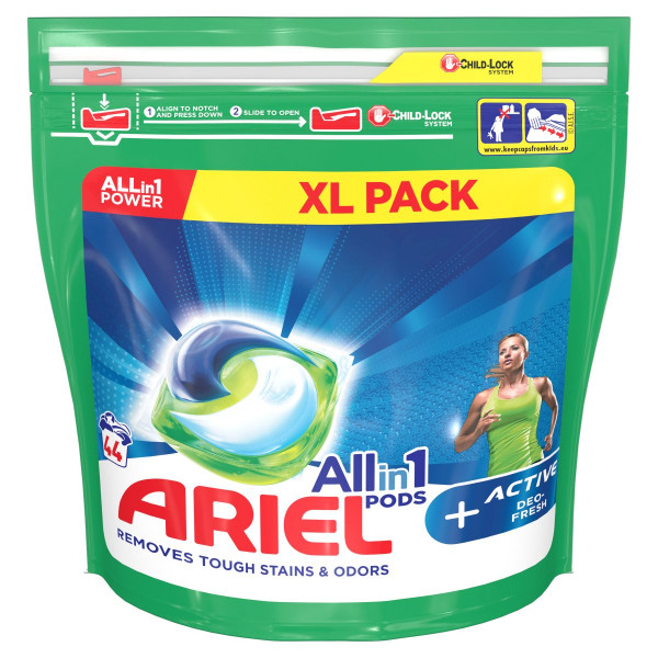 Ariel All In 1 Active Deo fresh kapsule 44PD 1