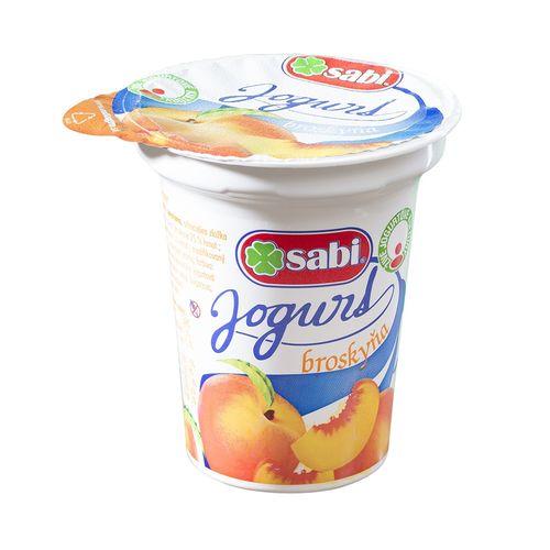 Jogurt broskyňový SABI 150g VÝPREDAJ 1