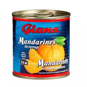 Kompót mandarínky lúpané GIANA 314ml 17