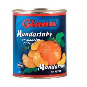 Kompót mandarínky lúpané GIANA 850ml 18
