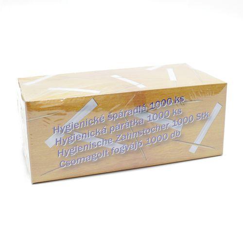 Špáradlá hygienicky balené 1000 ks (v papieri) 1