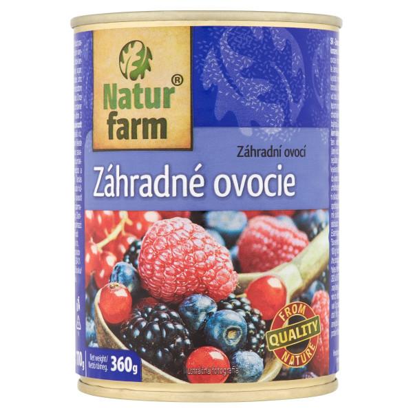 Záhradné ovocie kompót Natur Farm 360 g 1