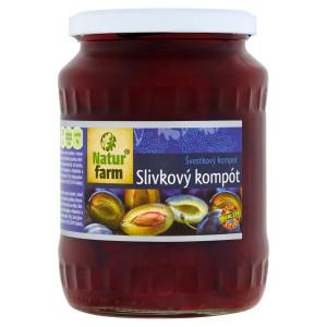 Slivky polené kompót Natur Farm 700 g 24