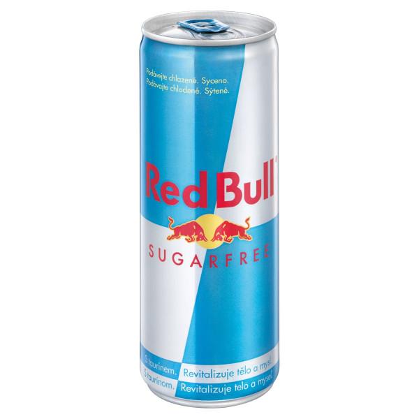Red Bull Energy drink Sugarfree 250ml plech 1