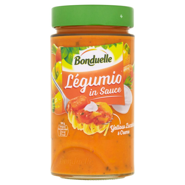 Bonduelle Légumio zeleninová omáčka so žltou cuketou a smotanou 460g 1