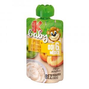 Kubík Baby kapsička jablko,marhuľa,ryž.krup. 100g 6