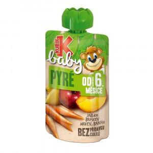 Kubík Baby ovoc.kapsička jab.brosk.mrk.banán 100g 5
