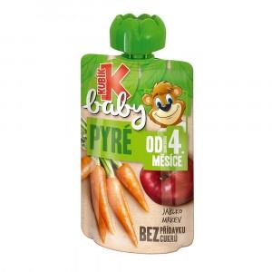 Kubík Baby ovocná kapsička jablko ,mrkva 100g 7