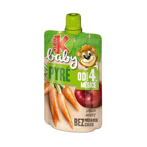Kubík Baby ovocná kapsička jablko ,mrkva 100g 1