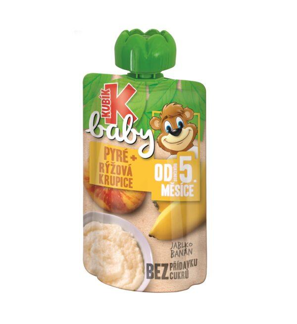 Kubík Baby kapsička jablko,banán,ryž.krupica 100g 1