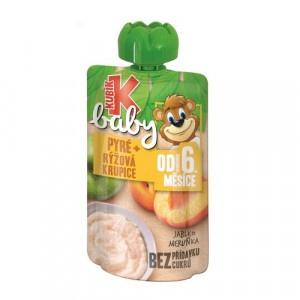 Kubík Baby kapsička jablko,marhuľa,ryž.krup. 100g 8