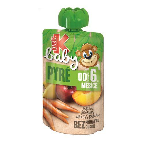 Kubík Baby ovoc.kapsička jab.brosk.mrk.banán 100g 1