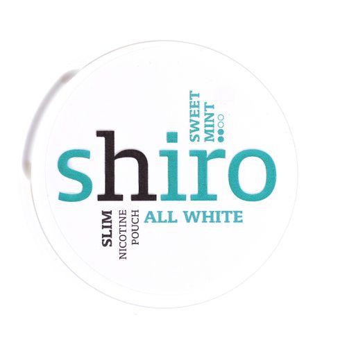 Shiro Sweet Mint nikotínové vrecká 12 g 1