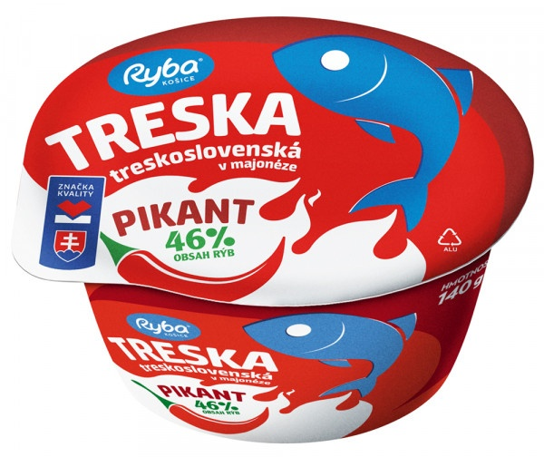 Treska v majonéze Treskoslovenská Pikant 140 g 1