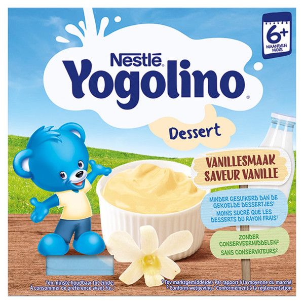 Nestlé Yogolino baby dezert Vanilka 4 x 100 g 1