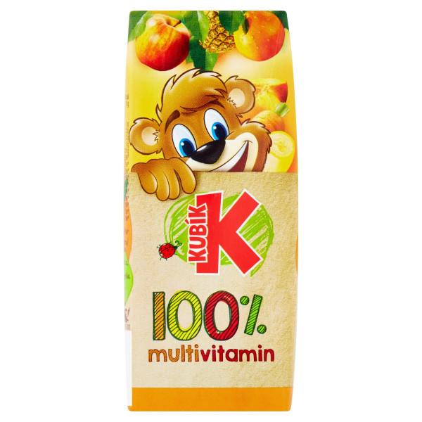 Kubík 100% multivitamín 200 ml 1