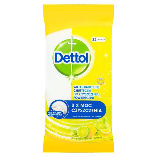 Dettol antibakteriálne obrúsky citrón&limeta 32ks 1