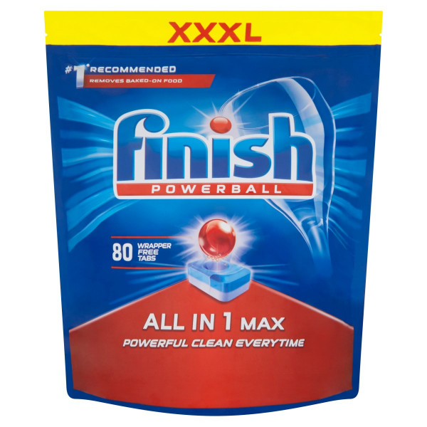 Finish Powerball All in 1 Max Tablety 80 ks 1280 g 1