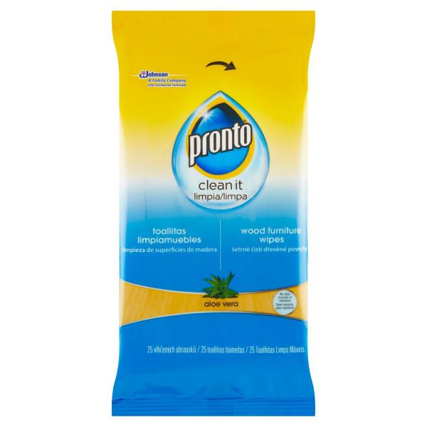 Pronto Clean It Aloe Vera utierky 25 ks 1
