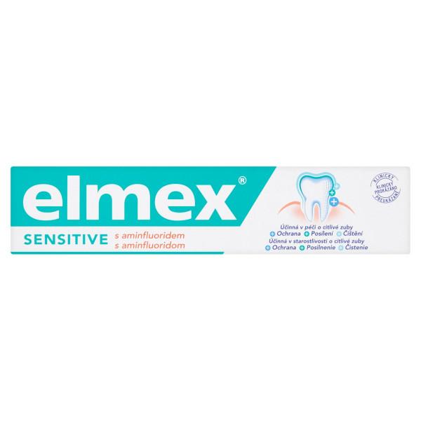 elmex Sensitive s aminfluoridom zubná pasta 75 ml 1
