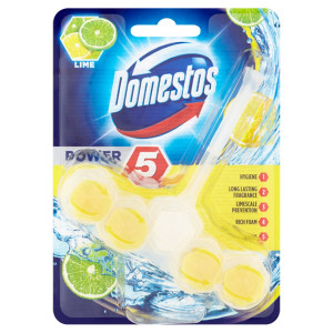 Domestos Power 5 Lime tuhý WC blok 55 g 6
