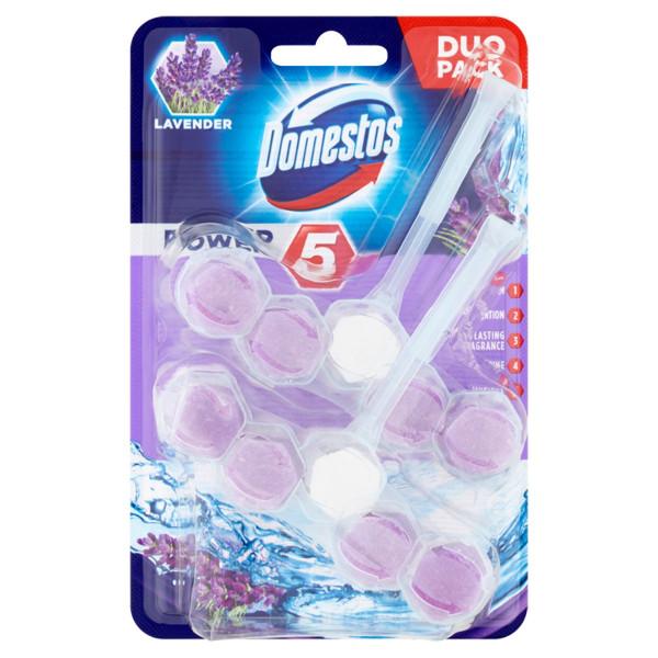 Domestos Power 5 Lavender tuhý WC blok 2 x 55 g 1