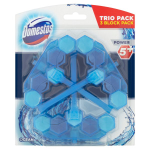Domestos Power 5 Ocean tuhý WC blok 3 x 53 g 3