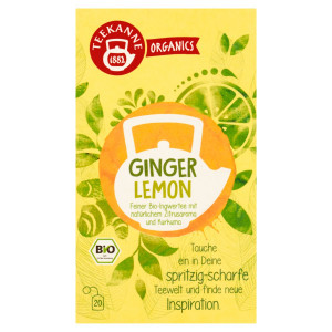 TEEKANNE Bio, Ginger Lemon, 20 vrecúšok, 36 g 3