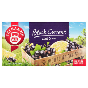TEEKANNE Black Currant&Lemon, World of Fruits 50 g 1