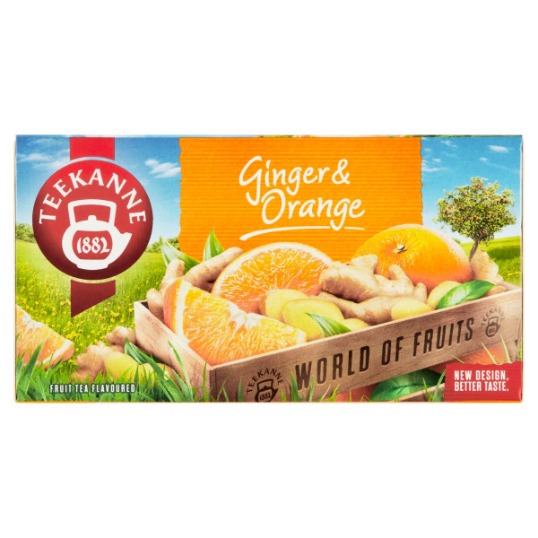TEEKANNE Ginger & Orange, World of Fruits, 45 g 1