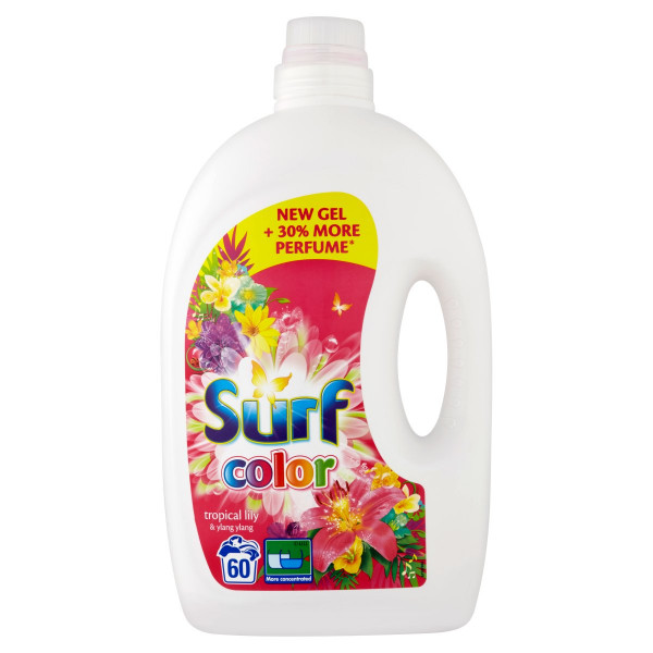 Surf Color Tropical Lily&Ylang prací gél 60PD 3 l 1