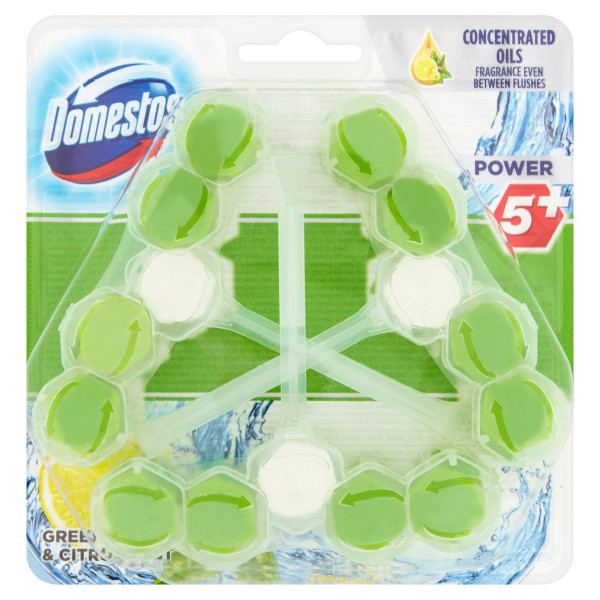 Domestos Power 5+ Green Tea & Citrus WC blok 3x55g 1