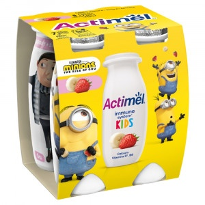 Actimel Kids jog. nápoj jahoda-banán DANONE 4x100g 3