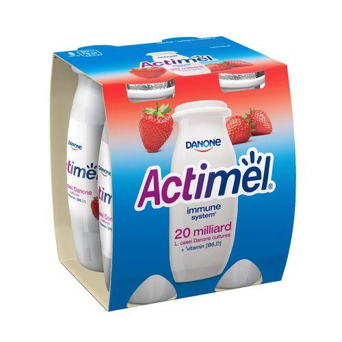 Actimel jogurtový nápoj jahoda DANONE 4x100g 1
