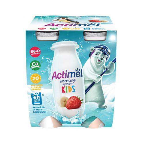 Actimel Kids jog. nápoj jahoda-banán DANONE 4x100g 1