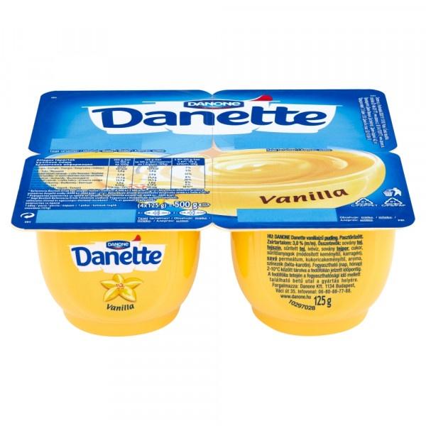 Danette dezert vanilka DANONE 4x125g 1