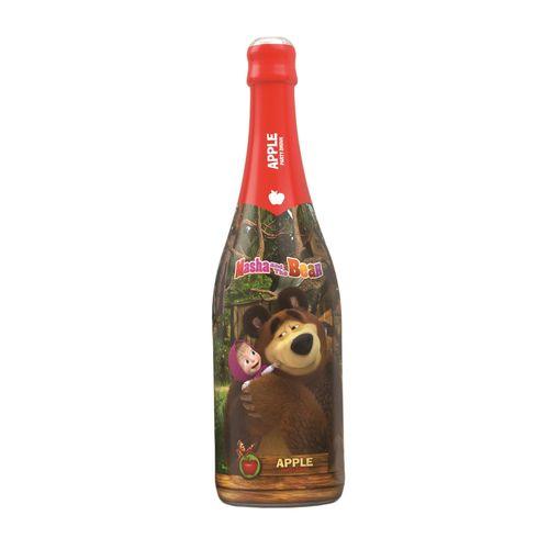 Detské šampanské Máša a medveď jablko 750 ml 1