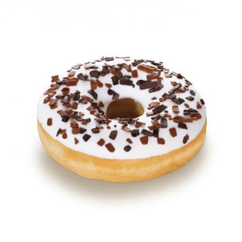 Donut vanilkový s cukrovou polevou 58g 1