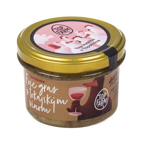 Foie gras s Tokajským vínom 150 g TopFarm 1